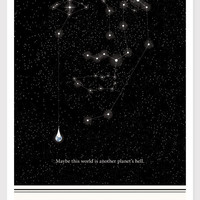 Illustration, Aldous Huxley, Fine Art Prints, Art Posters, Stars Drawing, Black and White Wall Art, Constellation Illustration