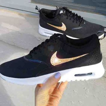 Nike Air Max Thea Diamond Hook Shining Sequin Hook Women Men Run 8ef67d9de