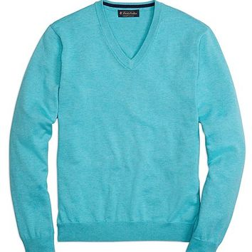 Supima® V-Neck Sweater - Brooks Brothers