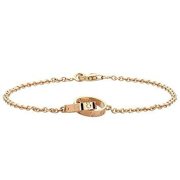 8DESS Cartier Women Fashion Plated Chain Bracelet