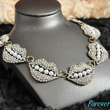 Statement necklace, crystal  handmade bib Necklace/glitter Statement  choker,bridesmaid gifts,Wedding Party unique Beaded JCrew Jewelry