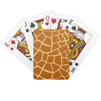 Brown Yellow Giraffe Skin Pattern Playing Cards