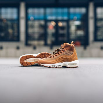 kuyou Men's Nike Air Max 95 Sneakerboot - Flax/Flax-Ale Brown- Sail