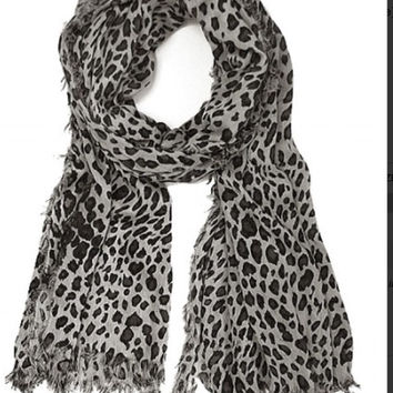 Tattered Edge Leopard Scarf