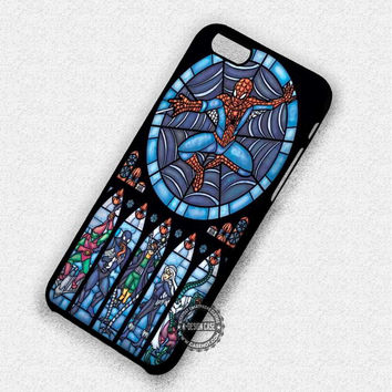 Spiderman Stained Glass - iPhone 7 6 6s 5c 5s SE Cases & Covers