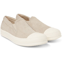 Rick Owens - Cap-Toe Calf Hair Sneakers | MR PORTER