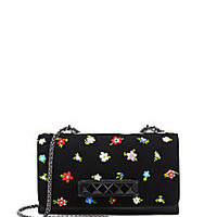 Valentino - Va Va Voom Floral Beaded Suede & Leather Crossbody Bag - Saks Fifth Avenue Mobile