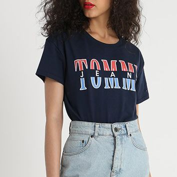 Tommy Jeans Fashion Women Tee Contrast Word B-KWKWM Black