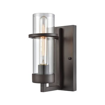Holbrook 1-Light Wall Lamp in Oil Rubbed Bronze with Clear Blown Glass