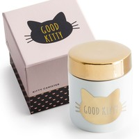 Good Kitty Gold Treat Porcelain Canister