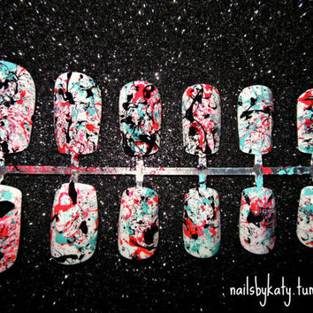 Splatter Painted Nails
