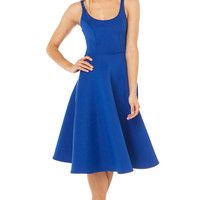 Skater Dress | Royal Blue Dress | Midi Dresses