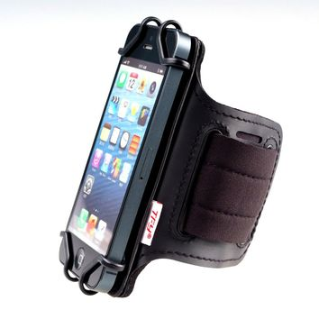 TFY Open Face Sport Armband Wrist Band Holder + Key Holder for over 5.5 Inch Cell Phone - for iPhone 7 Plus Note 2 / 3 / 4