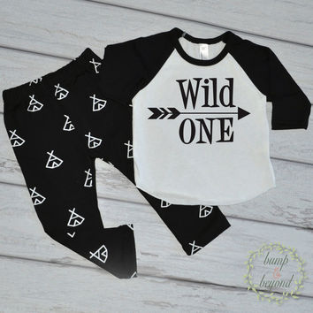1st Birthday Outfit Boy Wild One First Birthday Shirt 1 Year Old Birthday Boy Clothes Hipster Baby Boy Clothes Boy Outfit Set 024