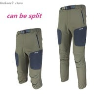camping survival mammoth hunting pants hiking climbing montura quick drying splittable   outdoor pants fishing sport