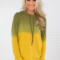 Yellow & Green Ombre Hoodie
