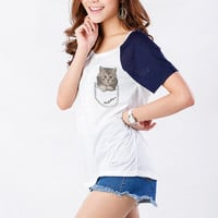 Cat T Shirt Womens Graphic Printed Tee