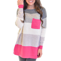 Closet Candy Boutique · Southern Comfort Sweater - Hot Pink