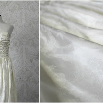Vintage 80s Champagne White Gunne Sax Tea Length Prom Dress, Vintage 1980s Strapless Wedding Dress, 80s Party Dress, Size Medium