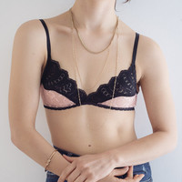 Lace Bra - Soft cup bra mix black with colors
