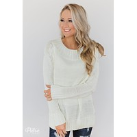 Cuddle Me Close Knitted Sweater- Ivory