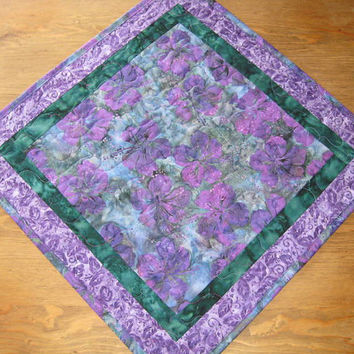 Purple Quilted Table Runner Table Topper