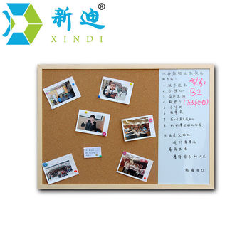 XINDI 2016 30*40cm Whiteboard and Cork Board Combination 3:1Dry Wipe Drawing Board Wood Frame Magnetic Whiteboard  Free Shipping