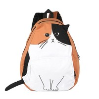 sac a dos Ears Cute Cat Japan Women Backpacks for Teenage Girl School Bag Mochila Gato Animal Print Fashion Canvas Bagpack 435