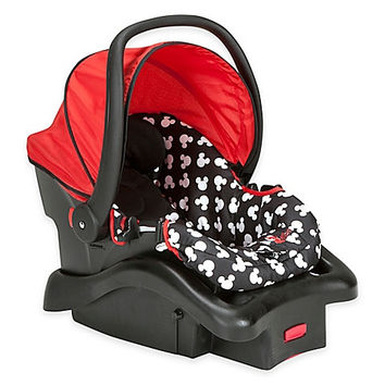 Disney Light N Comfy Mickey Mouse Polka Dot Luxe Car Seat in Red