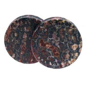 Leopardskin Jasper Flat XL Plugs (29mm-41mm)