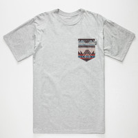 Bohnam Dakota Mens Pocket Tee Heather  In Sizes