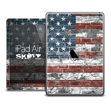 The Vintage American Flag Skin for the iPad Air