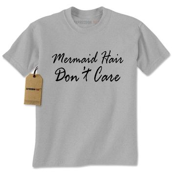 Mermaid Hair Don't Care Dinglehopper Mens T-shirt