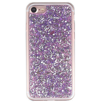 Purple Flakes iPhone Case