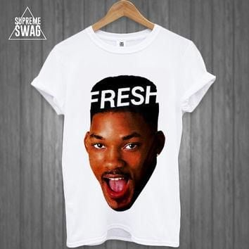 Dope supreme swag hipster Fresh Prince t-shirt NWA Homies Obey Disobey Cross OFWGKTA d
