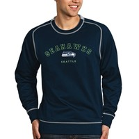 Seattle Seahawks Antigua Volt Crew Sweatshirt – Navy Blue