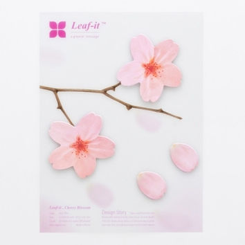 Leaf-it Cherry Blossom Sticky Note