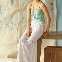 Lace Melange Maxi Skirt by Yoana Baraschi White