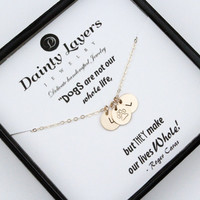 Dog Paw Necklace / Dog Paw Jewelry / Personalized Pet Lover Gift / Dog Remembrance / Pet Loss Necklace / Silver or Gold filled