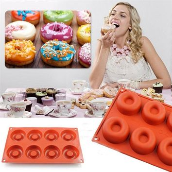 8 Hole Silicone Donut Muffin maker mold eco freindly Chocolate Cake Candy Cookie Cupcake Baking Doughnut mould DIY drop shipping