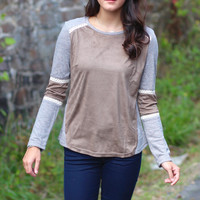 Suede It To Me Sweater {Mocha}
