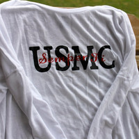 long sleeve USMC semper fi shirt