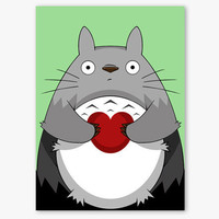Valentines Card  My Neighbour Totoro by aCuriousCat on Etsy