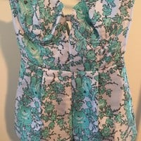 Elliatt Turquoise Away Romper/Jumpsuit 51% off retail