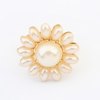 Jewelry Gift New Arrival Shiny Stylish Pearls Accessory Ring [4918803460]