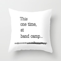 Band camp... Throw Pillow by John Medbury (LAZY J Studios)