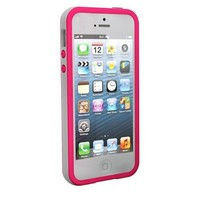 Tech Armor Apple iPhone 5S/iPhone 5 Pink/White TPU Flex Case