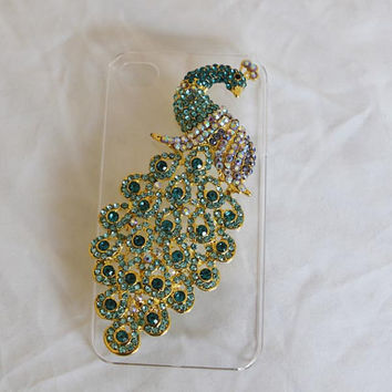 peacock iphone 5c case phone case Iphone 5c case iphone cover -peacock iphone cover