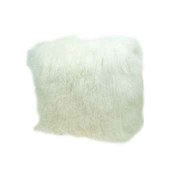 Floor Sample Tibetan Sheepskin Ottoman