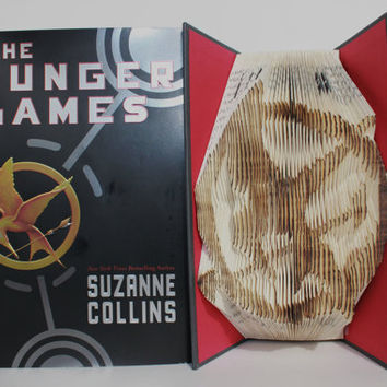 Mockingjay Pin Folded Book Art ( Book Origami )